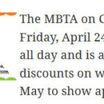 MBTA Customer Appreciation Day: Friday, April 24th