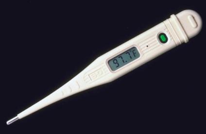 thermometer reading temperature