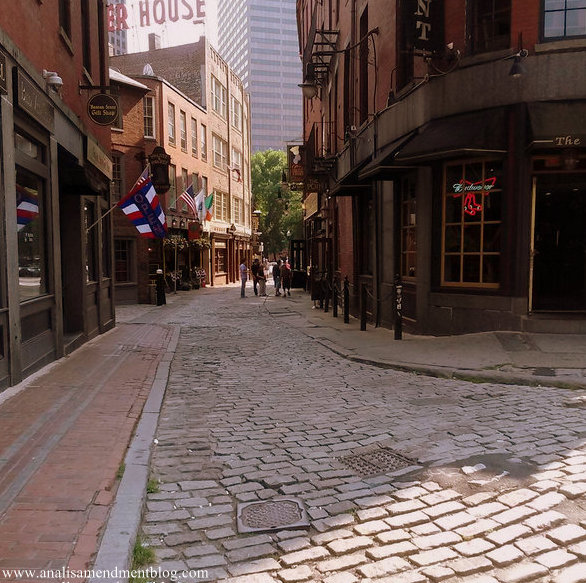 Boston's cobblestone streets
