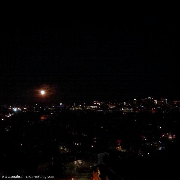 Christmas 2015 full moon rising