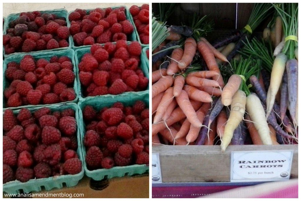 spring brings farmers market produce