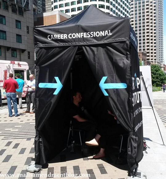 Career confessional booth