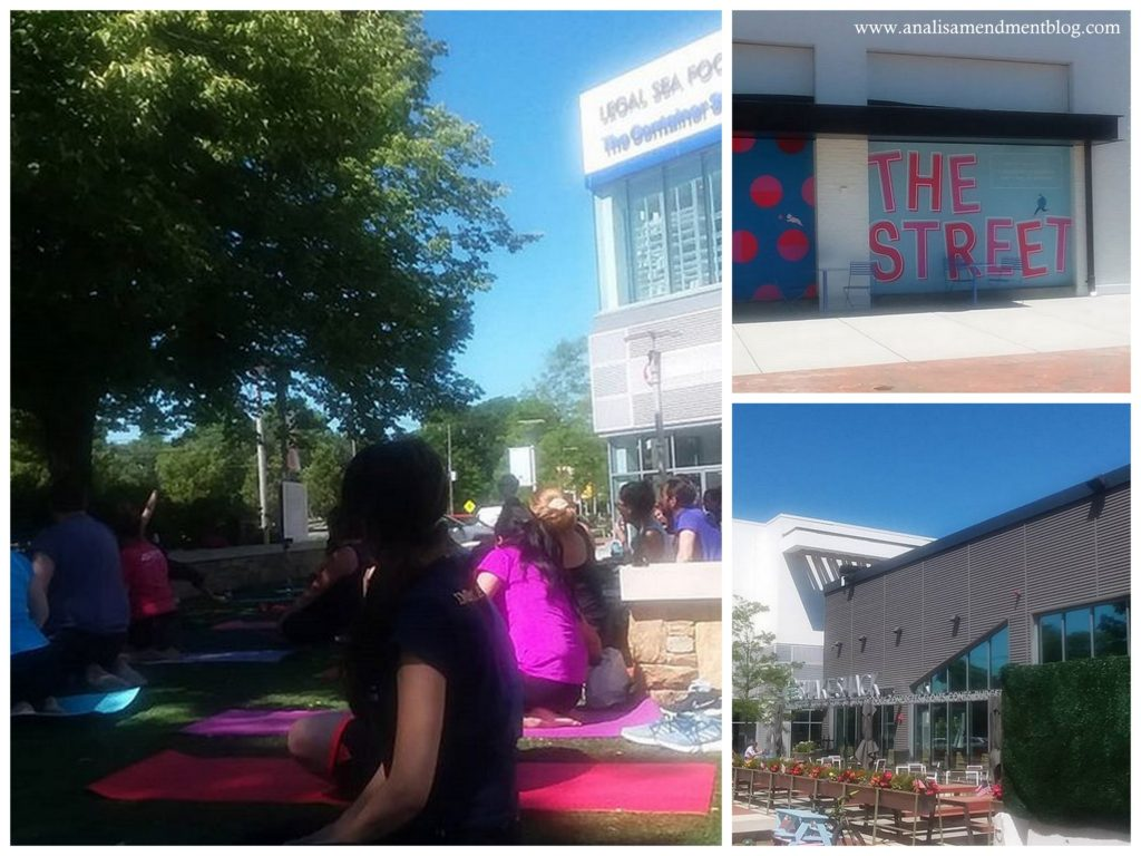 Free yoga class at The Street Chestnut Hill.