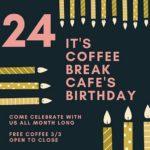 Free Coffee Today @ Coffee Break Cafe!