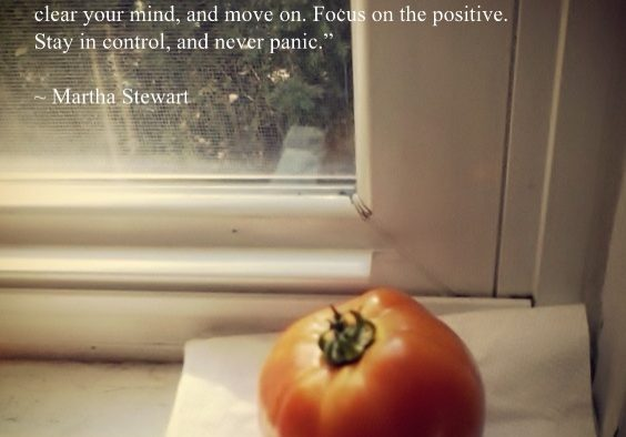 Tomato with quote